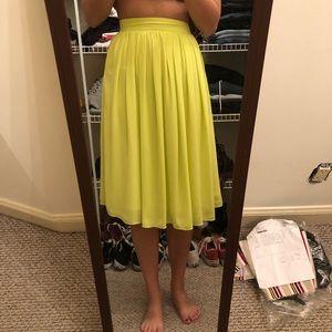 Yellowish/greenish midi skirt